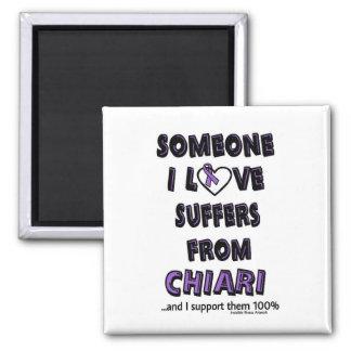 Someone I Love...Chiari Square Magnet