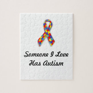 Someone I Love Has Autism Jigsaw Puzzle