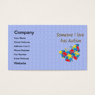 Someone I love has autism (multi) Business Card