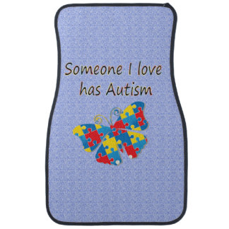 Someone I love has autism (multi) Car Mat