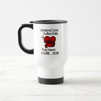 Someone I Love...Heart/Ribbon...APS Travel Mug