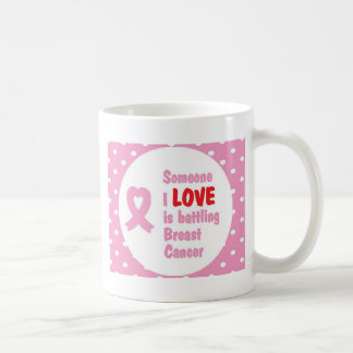 Someone I Love is Battling Breast Cancer Basic White Mug