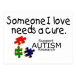 Someone I Love (Puzzle Pieces) Postcard