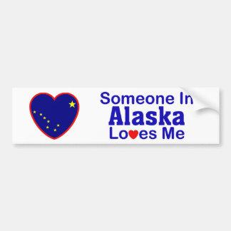 Someone In Alaska Loves Me Bumper Sticker