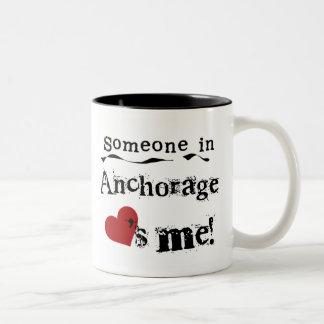 Someone in Anchorage Two-Tone Coffee Mug