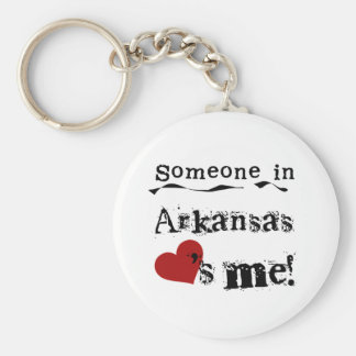 Someone In Arkansas Loves Me Key Ring