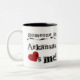 Someone In Arkansas Loves Me Two-Tone Coffee Mug
