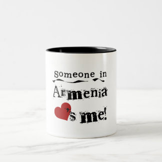 Someone In Armenia Loves Me Two-Tone Coffee Mug