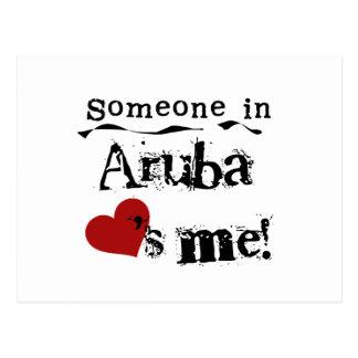 Someone In Aruba Loves Me Postcard