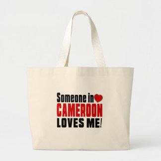 SOMEONE IN CAMEROON LOVES ME ! JUMBO TOTE BAG