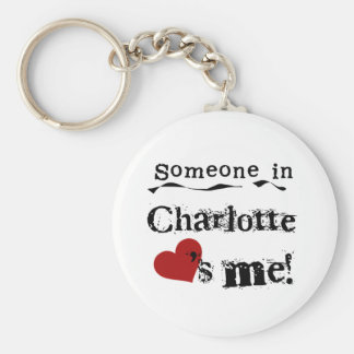 Someone in Charlotte Basic Round Button Key Ring