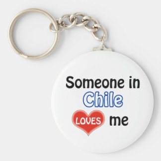 Someone in Chile Loves me Basic Round Button Key Ring