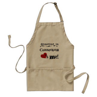 Someone In Connecticut Loves Me Adult Apron