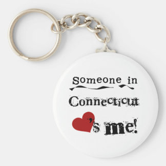 Someone In Connecticut Loves Me Key Ring