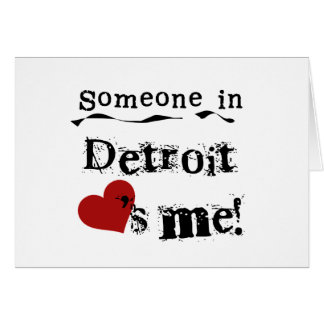 Someone in Detroit Card
