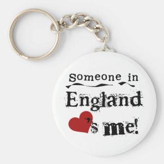 Someone In England Loves Me Basic Round Button Key Ring