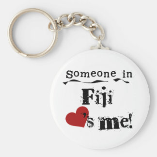 Someone In Fiji Loves Me Basic Round Button Key Ring