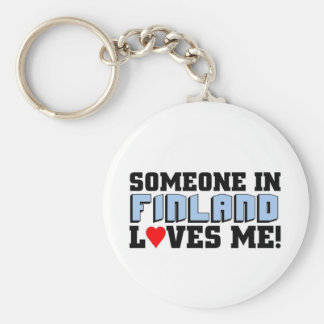 Someone in Finland loves me Key Ring