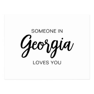 Someone in Georgia loves you - Post Card