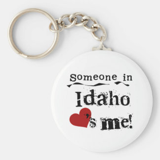Someone In Idaho Loves Me Basic Round Button Key Ring