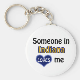 Someone in Indiana Loves me Key Ring