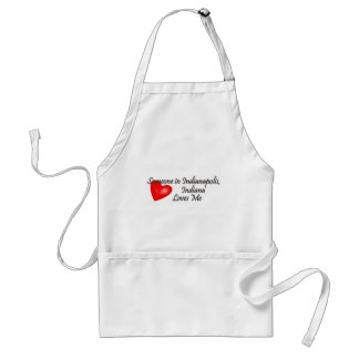 Someone in Indianapolis Loves Me Standard Apron