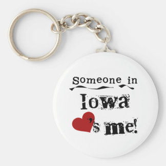 Someone In Iowa Loves Me Key Ring