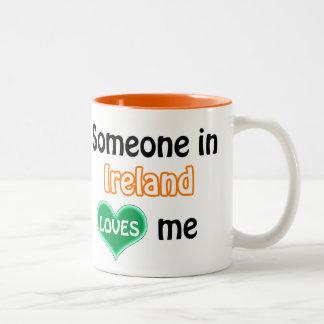 Someone in Ireland loves me Two-Tone Mug