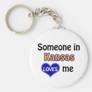 Someone in Kansas Loves me Key Ring