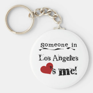 Someone in Los Angeles Basic Round Button Key Ring