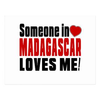 SOMEONE IN MADAGASCAR LOVES ME ! POSTCARD