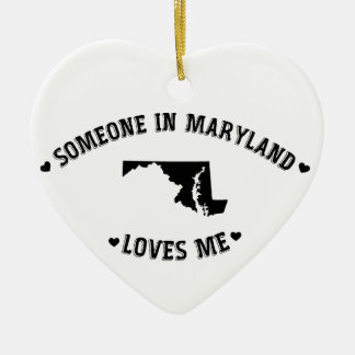 Someone in Maryland Loves Me Christmas Ornament