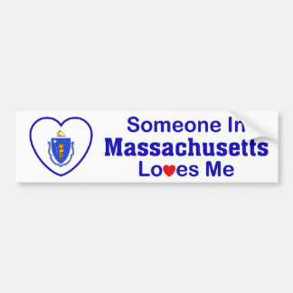 Someone In Massachusetts Loves Me Bumper Sticker