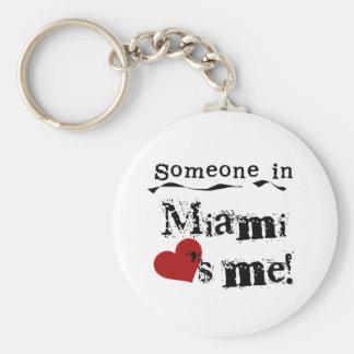 Someone in Miami Key Ring
