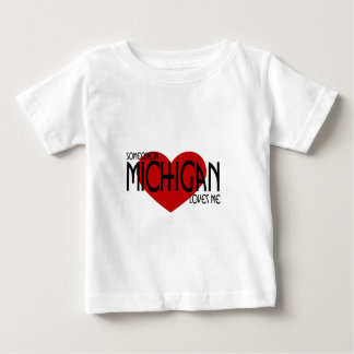 Someone in Michigan Loves Me Baby T-Shirt