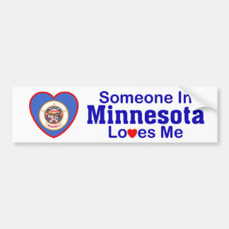 Someone In Minnesota Loves Me Bumper Sticker