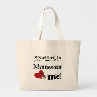 Someone In Minnesota Loves Me Large Tote Bag