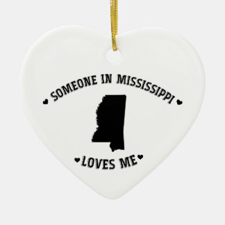 Someone in Mississippi Loves Me Christmas Ornament