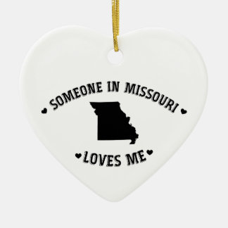 Someone in Missouri Loves Me Christmas Ornament