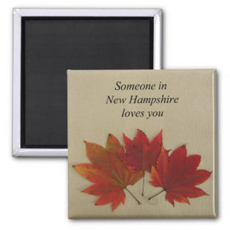 Someone In New Hampshire Loves You-Magnet Square Magnet