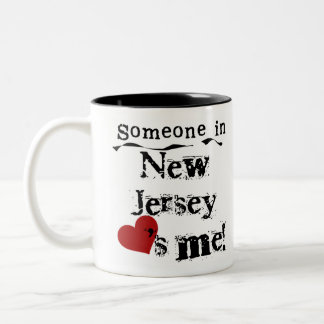 Someone In New Jersey Loves Me Two-Tone Mug