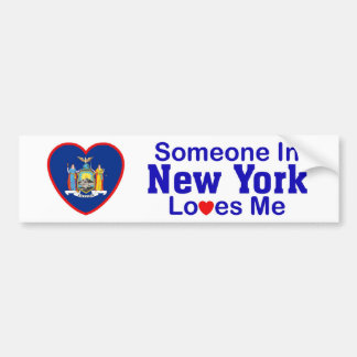 Someone In New York Loves Me Bumper Sticker
