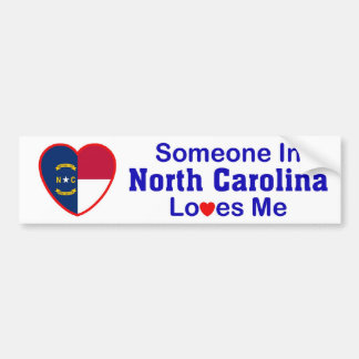 Someone In North Carolina Loves Me Bumper Sticker