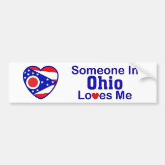 Someone In Ohio Loves Me Bumper Sticker