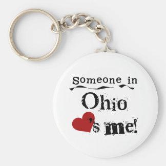Someone In Ohio Loves Me Key Ring