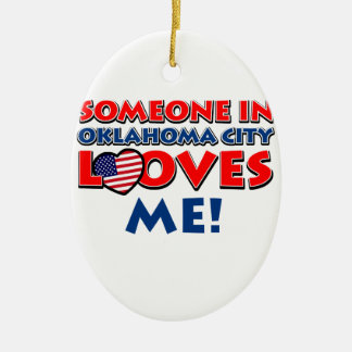 Someone in oklahoma city loves me christmas ornament