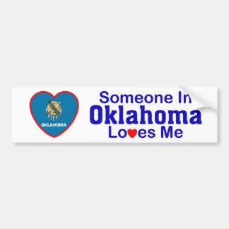 Someone In Oklahoma Loves Me Bumper Sticker