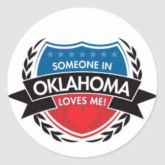 Someone In Oklahoma Loves Me Classic Round Sticker