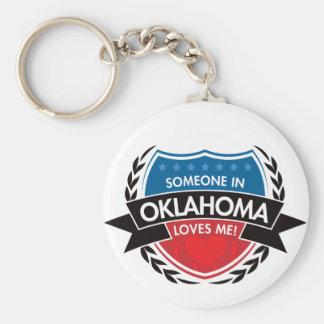 Someone In Oklahoma Loves Me Key Ring