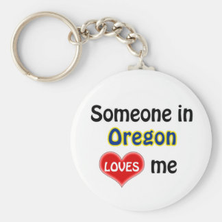Someone in Oregon Loves me Key Ring
